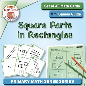 Square Parts in Rectangles Card Games 2G13