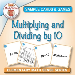 FREE Multiplying and Dividing by 10 Card Games 4B11-F
