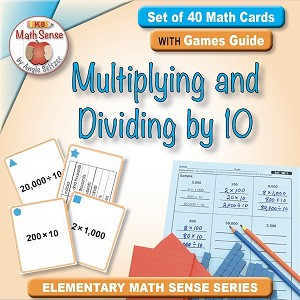 Multiplying and Dividing by 10 Card Games 4B11