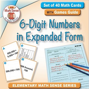 6-Digit Numbers in Expanded Form Card Games 4B13