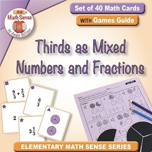 Mixed Numbers and Fractions in Thirds Card Games 4F21-T