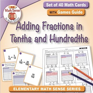 Adding Fractions in Tenths and Hundredths Card Games 4F32