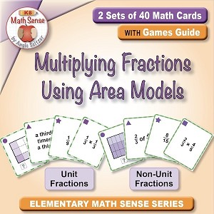 Multiplying Fractions Using Area Models Card Games 5F23