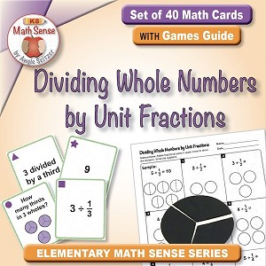 Dividing Whole Numbers by Unit Fractions Card Games 5F27