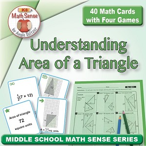 FREE Understanding Area of a Triangle Card Games 6G11-F