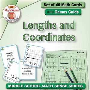 Lengths and Coordinates Card Games 6G17