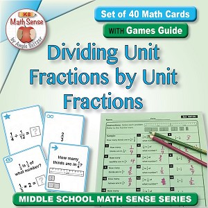 Dividing Unit Fractions by Unit Fractions Card Games 6N12