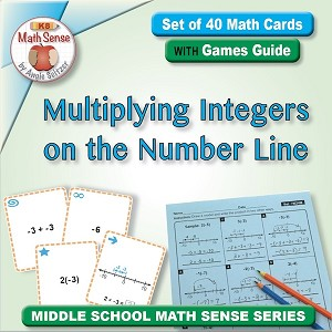 Multiplying Integers on the Number Line Card Games 7N24-M