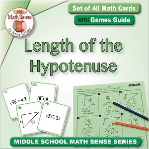 Length of the Hypotenuse Card Games 8G22