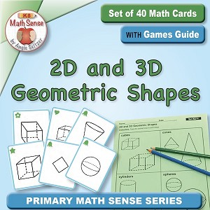 Two- and Three-Dimensional Shapes Card Games KG14