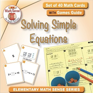 Solving Simple Equations Card Games 4A13