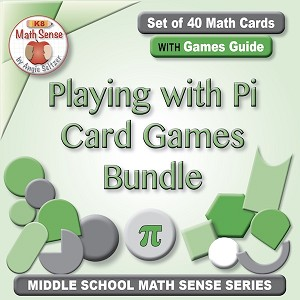 Playing with Pi Bundle of Four Card Games 7G22