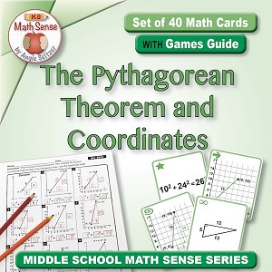The Pythagorean Theorem and Coordinates Card Games 8G23