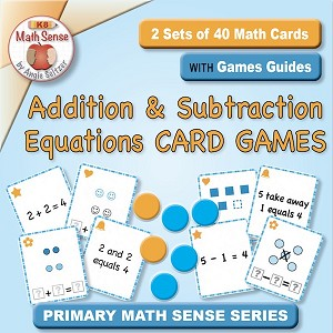 Addition and Subtraction Equations Card Games KA13